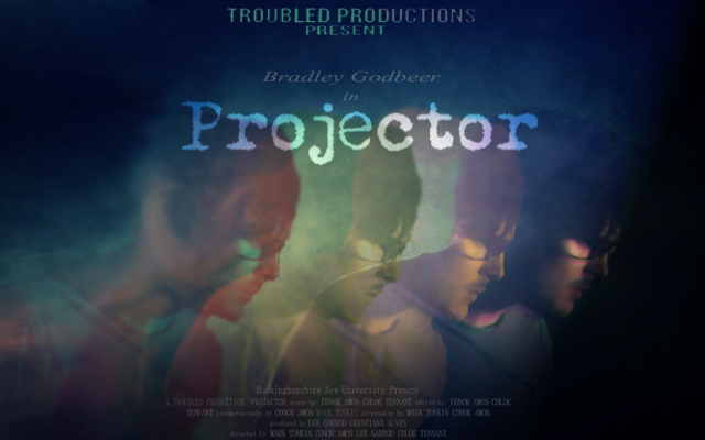 projector poster neon