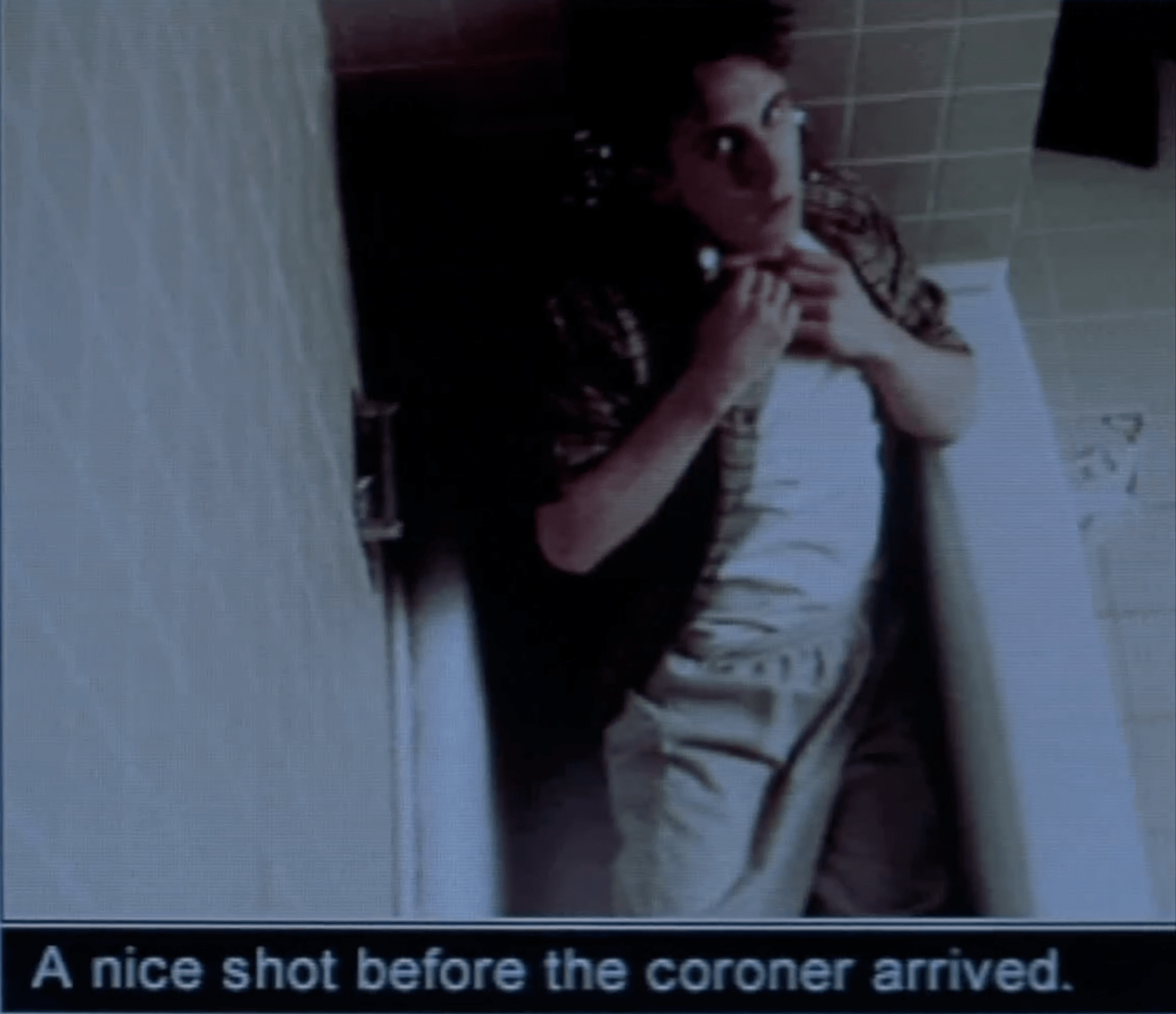 "Tod in bathtub. Caption ""a nice shot before the coroner"